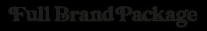 Full brand / rebrand package